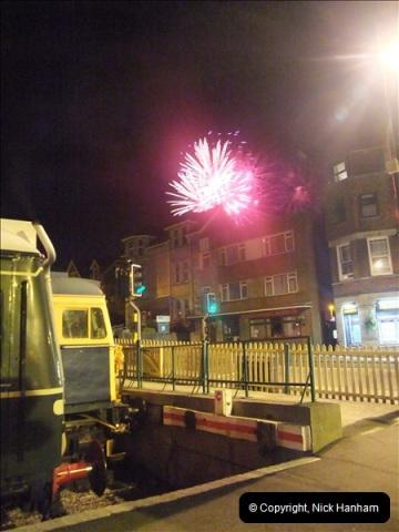 2010-08-28 Driving Late Turn DMU & Swanage Regatta Fireworks.  (27)253