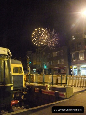 2010-08-28 Driving Late Turn DMU & Swanage Regatta Fireworks.  (28)254