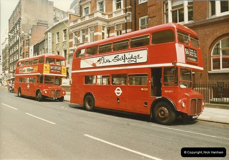 London Buses 1963 to 2007.  (40) 040