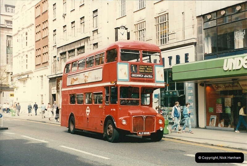 London Buses 1963 to 2007.  (58) 058