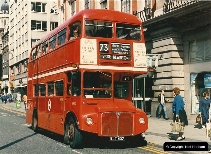London Buses 1963 to 2007.  (62) 062