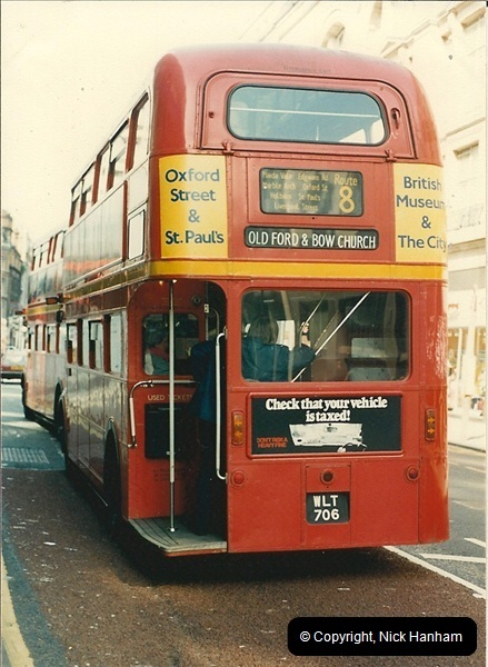 London Buses 1963 to 2007.  (68) 068