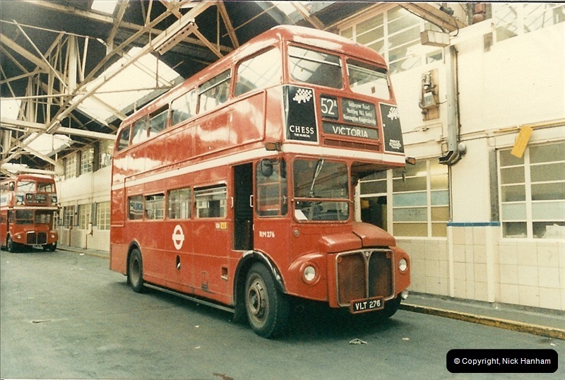 London Buses 1963 to 2007.  (86) 086