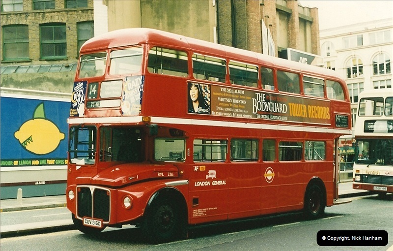 London Buses 1963 to 2007.  (117) 117