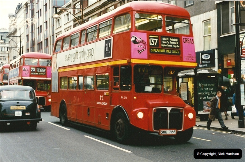 London Buses 1963 to 2007.  (143) 143