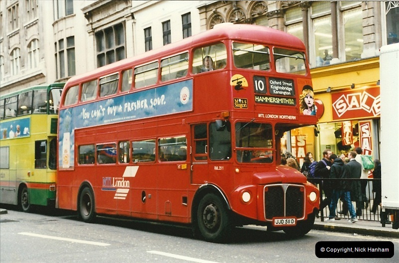 London Buses 1963 to 2007.  (150) 150