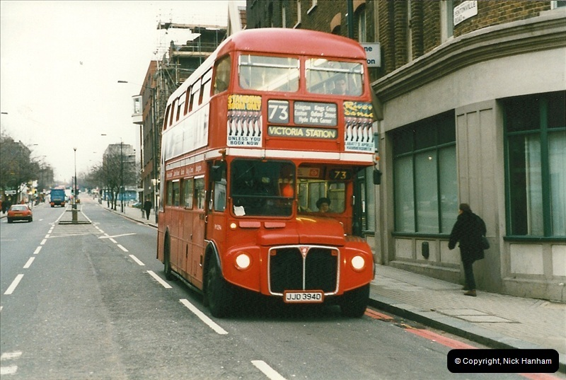 London Buses 1963 to 2007.  (153) 153