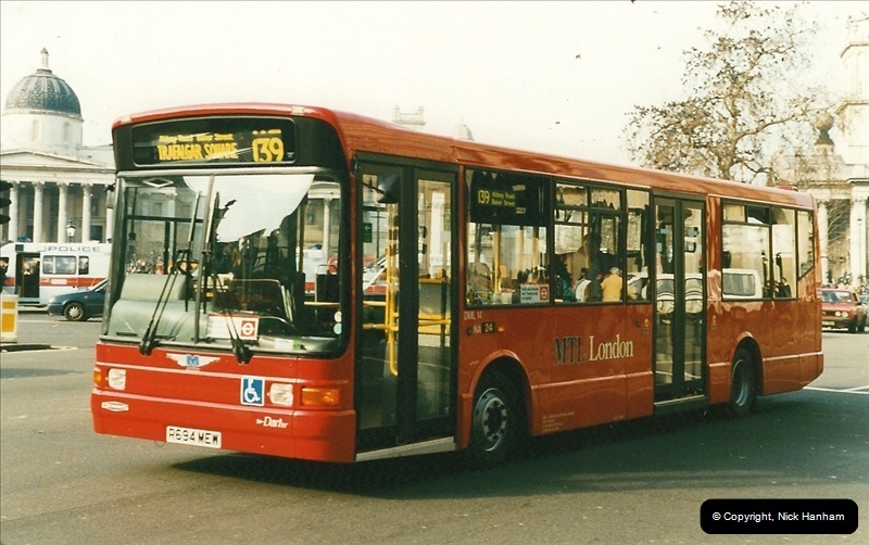 London Buses 1963 to 2007.  (166) 166