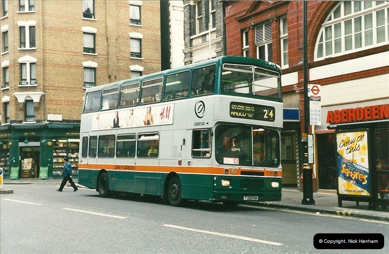 London Buses 1963 to 2007.  (202) 202