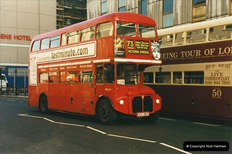 London Buses 1963 to 2007.  (270) 270