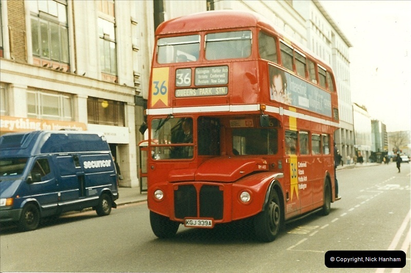 London Buses 1963 to 2007.  (284) 284