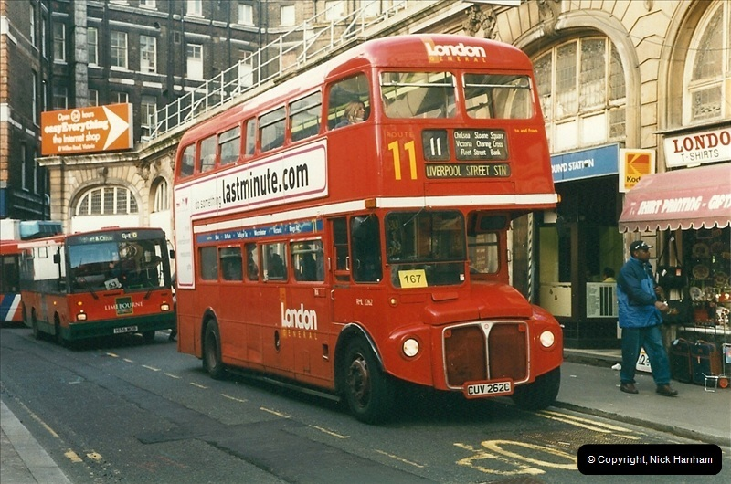 London Buses 1963 to 2007.  (345) 345