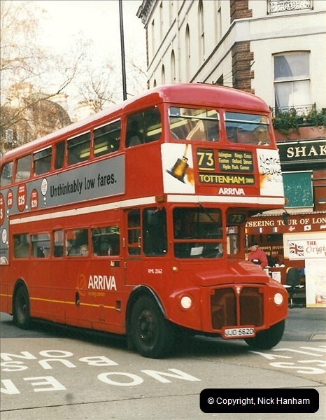 London Buses 1963 to 2007.  (353) 353