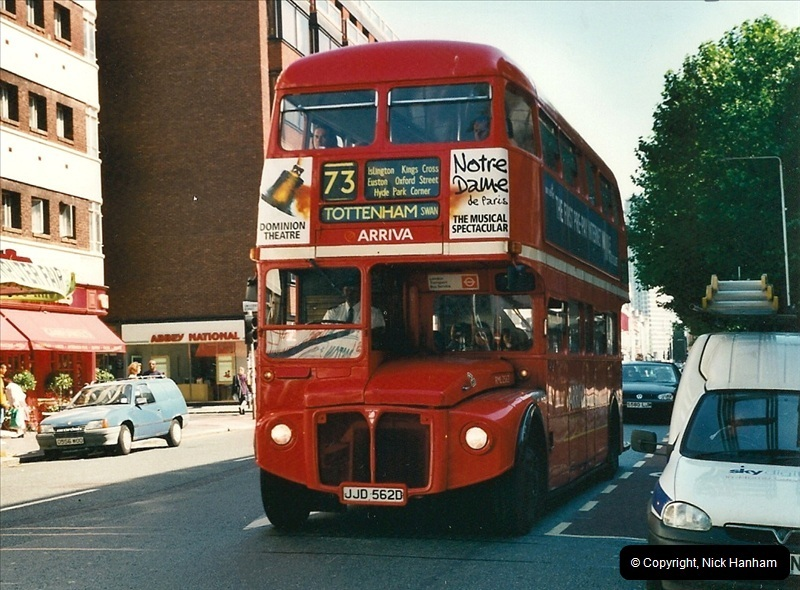 London Buses 1963 to 2007.  (405) 405