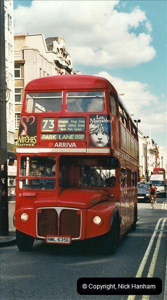 London Buses 1963 to 2007.  (421) 421