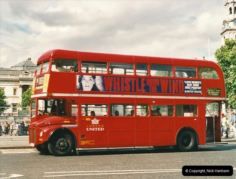 London Buses 1963 to 2007.  (458) 458