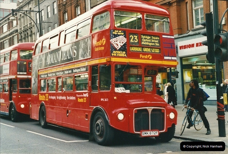 London Buses 1963 to 2007.  (505) 505