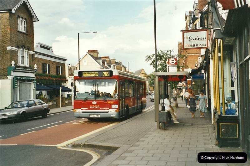 London Buses 1963 to 2007.  (532) 532