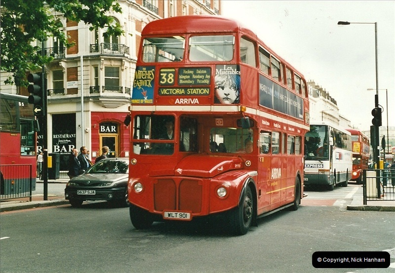 London Buses 1963 to 2007.  (544) 544