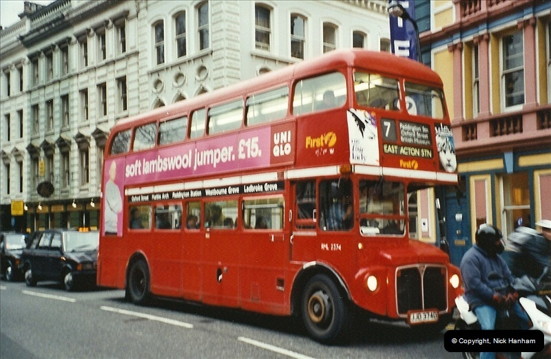 London Buses 1963 to 2007.  (607) 607