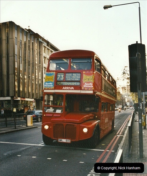 London Buses 1963 to 2007.  (646) 646