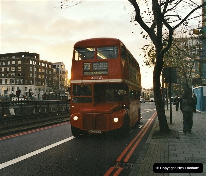 London Buses 1963 to 2007.  (647) 647