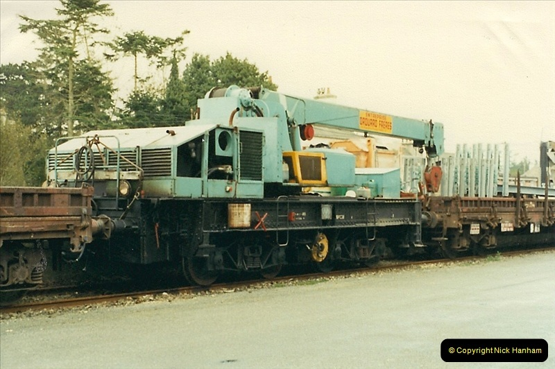 1988- 10- 10 to 20 Morlaix area & the wires going up. Rennes to Brest project.  (5)241
