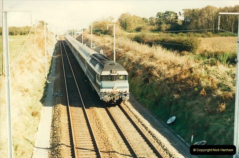 1988- 10- 10 to 20 Morlaix area & the wires going up. Rennes to Brest project.  (13)249