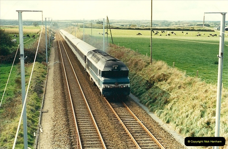 1988- 10- 10 to 20 Morlaix area & the wires going up. Rennes to Brest project.  (14)250
