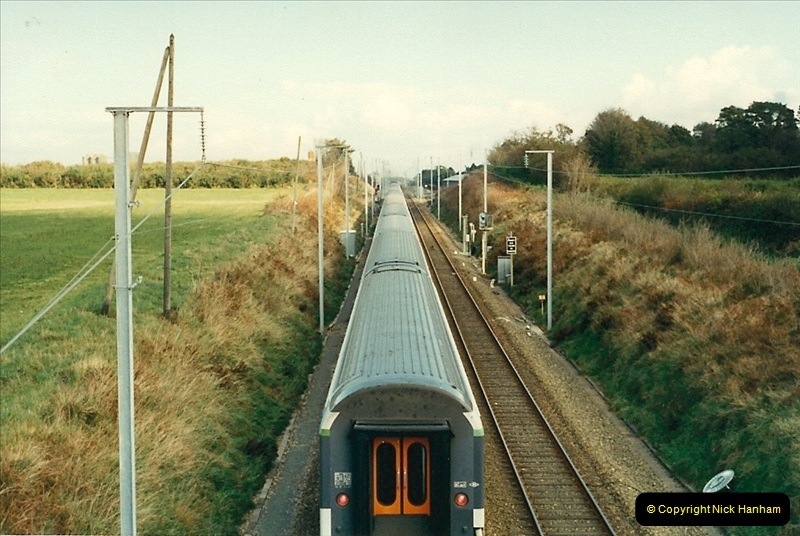 1988- 10- 10 to 20 Morlaix area & the wires going up. Rennes to Brest project.  (15)251