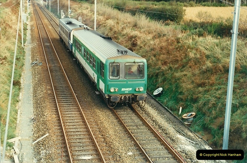 1988- 10- 10 to 20 Morlaix area & the wires going up. Rennes to Brest project.  (20)256