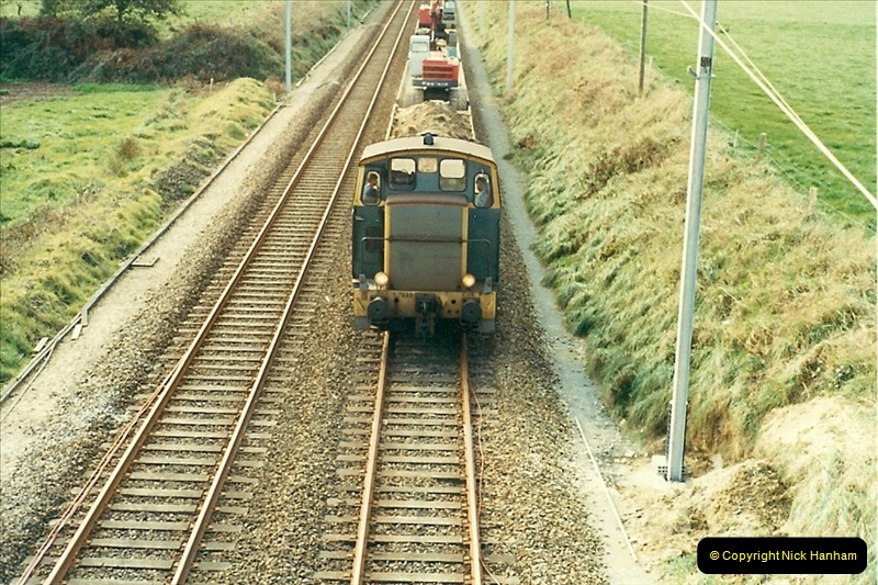 1988- 10- 10 to 20 Morlaix area & the wires going up. Rennes to Brest project.  (22)258