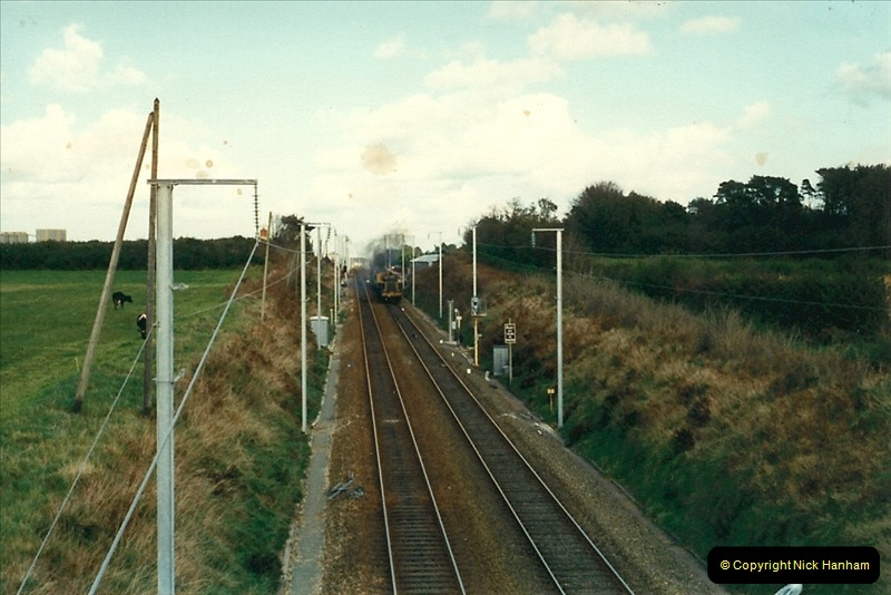 1988- 10- 10 to 20 Morlaix area & the wires going up. Rennes to Brest project.  (25)261