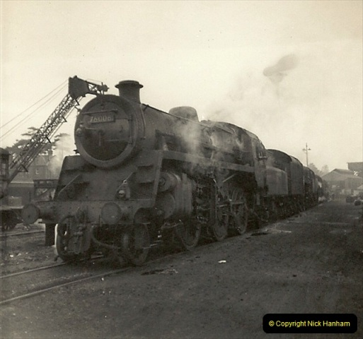 1955 to 1959 British Railways in Black & White. Local Bournemouth & Poole. (21)021