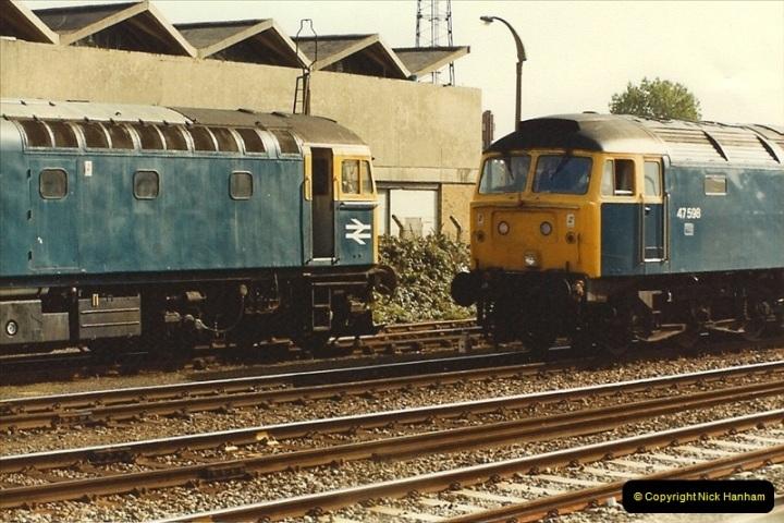 1984-10-11 VSOE Stock @ Poole, Dorset.  (1)181