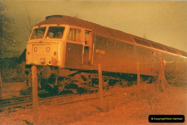 1985-12-11 47246 runs away from Bournemouth Depot. (2)301