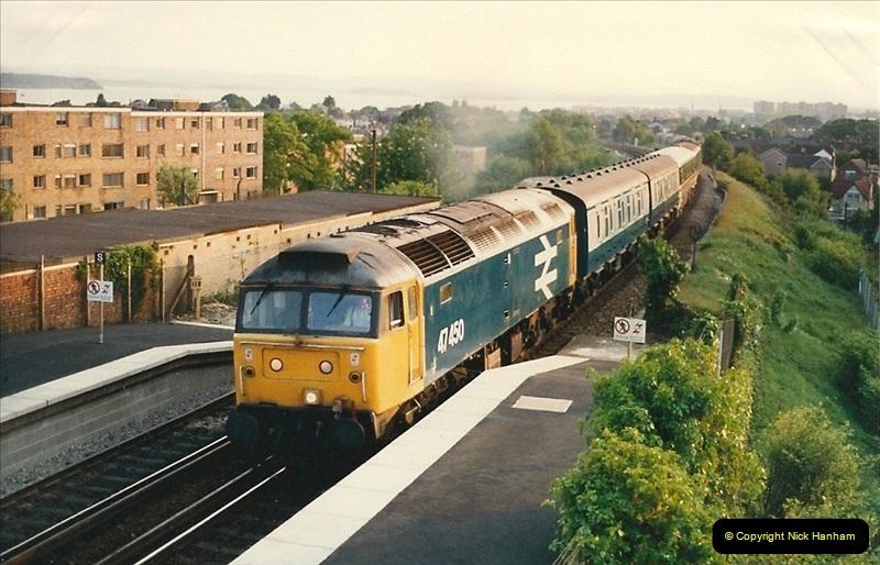 1988-05-16 Poole, Dorset. New sleeper service to Edinburgh starts. (3)0629