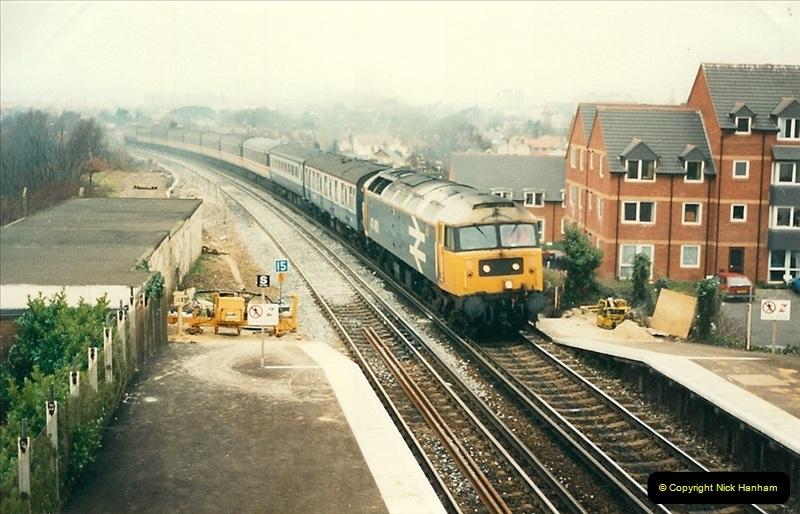 1988-12-14 Repair work to site of accident @ Parkstone, Dorset.  (16)0707