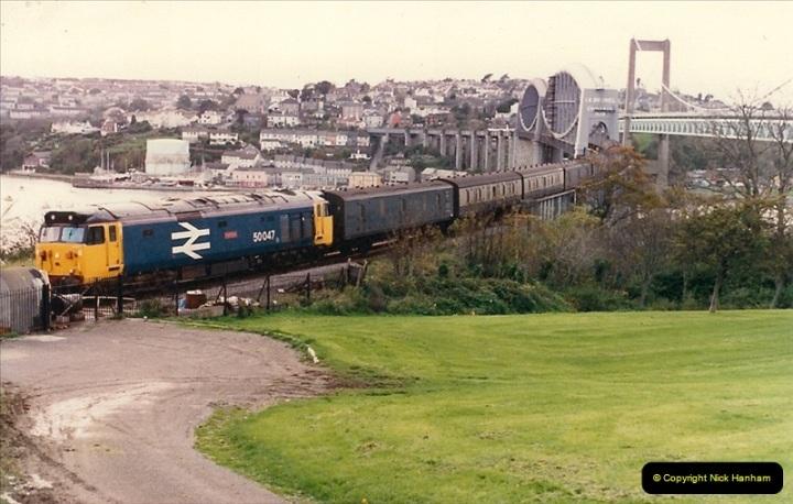 1986-10-29 The Royal Albert Bridge, Saltash, Devon.  (4)0338