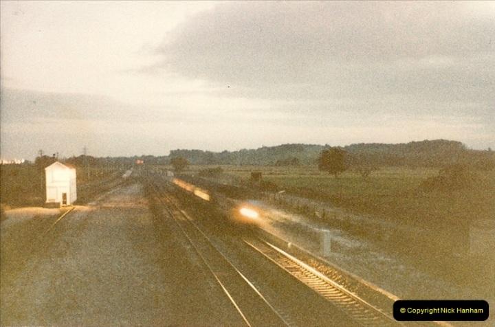 1986-10-29 Train Class 50 headed between Starcross and Exeter, Devon.0339
