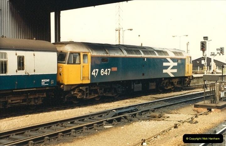 1987-08-21 to 23 Bristol Temple Meads, Bristol. (84)0716