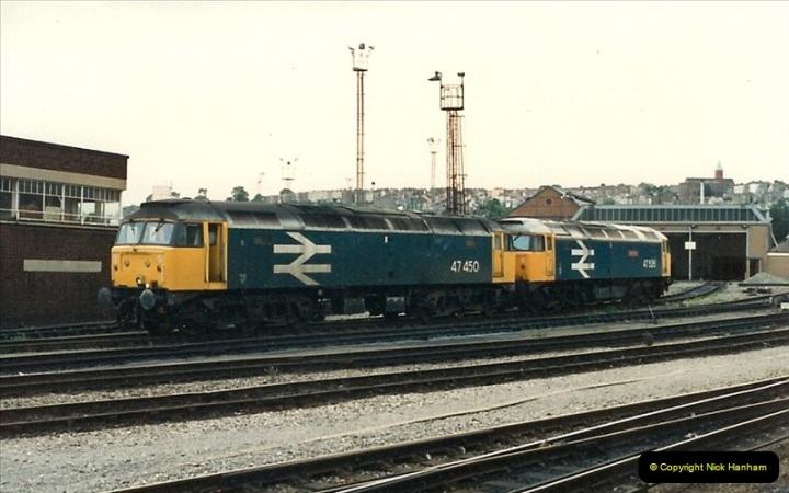 1987-09-21 to 23 Bristol Temple Meads, Bristol.  (95)0727