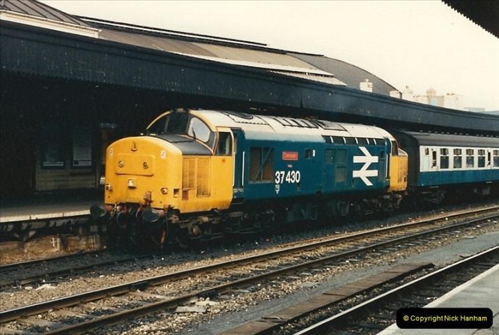 1987-09-21 to 23 Bristol Temple Meads, Bristol.  (105)0737