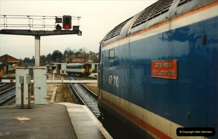1992-11-21 Exeter St. Davids station, Exeter, Devon.  (29)688