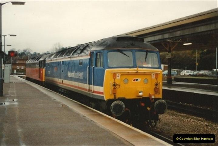 1992-11-21 Exeter St. Davids station, Exeter, Devon.  (31)690