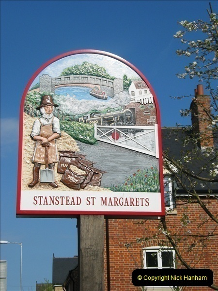 2007-04-20 Stanstead St. Margarets, Herts. Town Name Sign.086