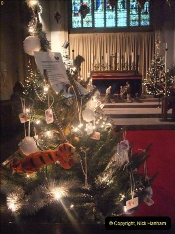 2012-12-21 (18) St.  Aldhelm's Church  Xmas Trees Display,  Branksome, Poole, Dorset.