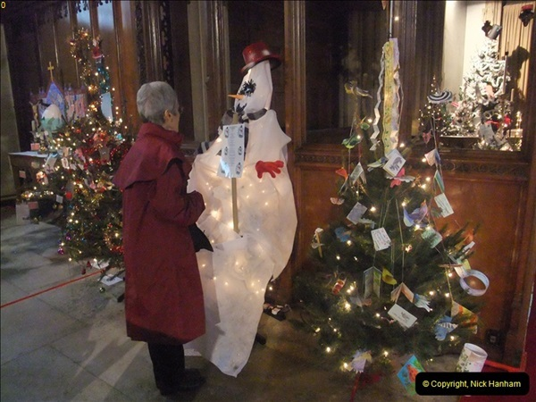 2012-12-21 (24) St.  Aldhelm's Church  Xmas Trees Display,  Branksome, Poole, Dorset.