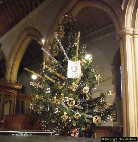 2013-12-19 St. Aldhelm's Church, Christmas Trees, Branksome, Poole, Dorset.  (1)