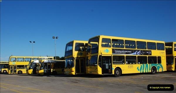 2012-08-26 Yellow Buses Yard Visit.  (206)206